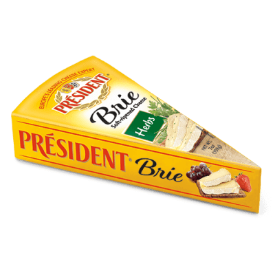 Président® foil Brie wedge with herbs