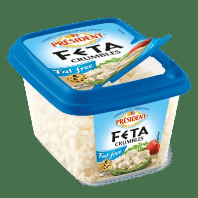 Président® Fat Free Feta Crumbles - Plain