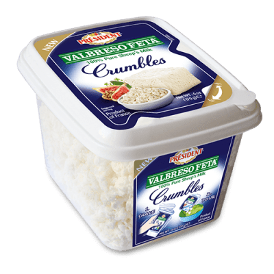 Président® Valbreso Feta® 100% Sheep's Milk Feta Crumbles