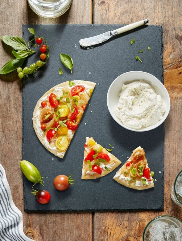 rondele_with_pita_tomatoes_and_basil