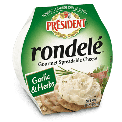 Rondelé® by Président® 8 oz garlic & herbs