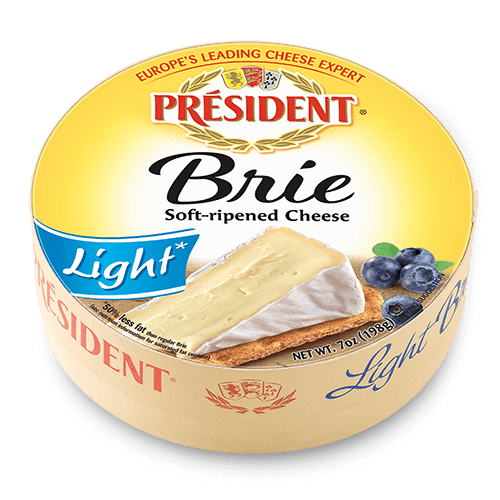 President Brie Round Light on Cut Paste Goat