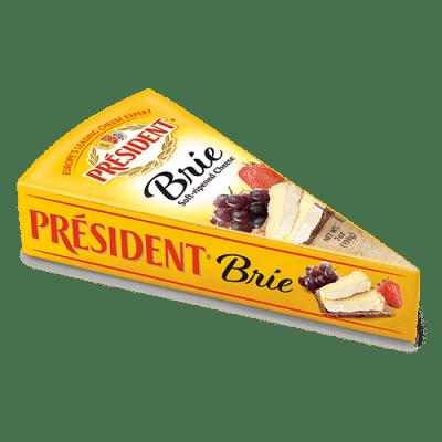 Président® plain foil Brie wedge