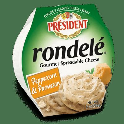 Rondelé® by Président® 8 oz Peppercorn & Parmesan