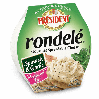 Rondelé® by Président® 8 oz Reduced Fat Spinach & Garlic
