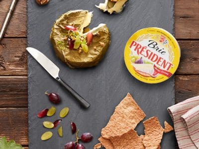 Brie-round-and-grape-leaves